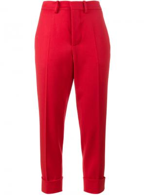 Укороченные брюки Pamal Marni. Цвет: красный