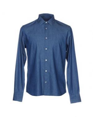 Джинсовая рубашка ALTEA. Цвет: синий