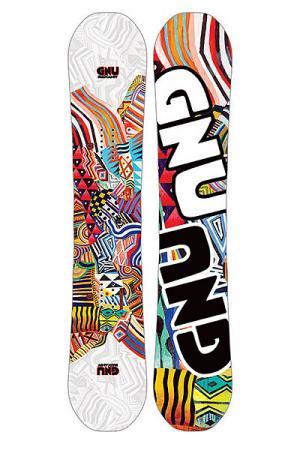 Сноуборд  Hard Candy Ast GNU. Цвет: мультиколор