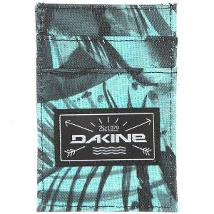 Визитница  Kane Card Wallet Painted Palm Dakine. Цвет: зеленый