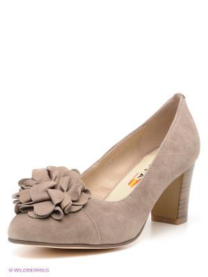 Туфли EVITA. Цвет: серо-коричневый