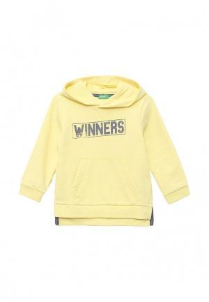 Худи United Colors of Benetton. Цвет: желтый
