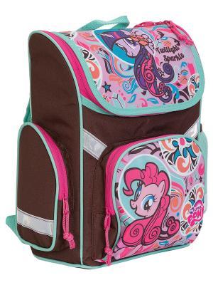 Рюкзак. My Little Pony. Цвет: коричневый, розовый, морская волна