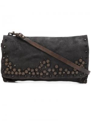 Декорированная сумка на плечо Campomaggi. Цвет: коричневый
