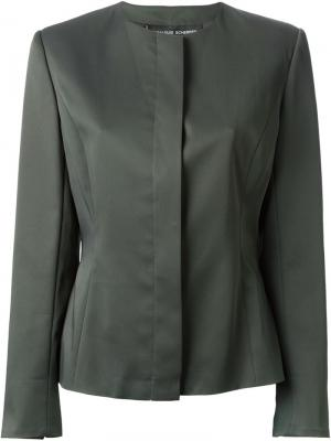 Классический креповый пиджак Jean Louis Scherrer Vintage. Цвет: серый