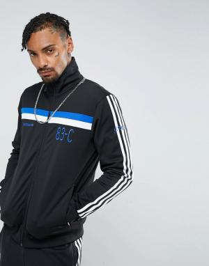 Adidas Originals Черная спортивная куртка 83-C BR8981. Цвет: черный