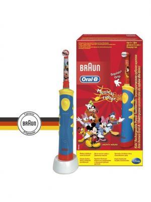 Электрическая зубная щетка D10.513K Mickey Kids (6/450) Oral-B. Цвет: синий, желтый, красный