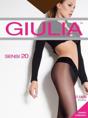 Колготки SENSI 20 VITA BASSA, 2 пары (20 ден) Giulia. Цвет: коричневый