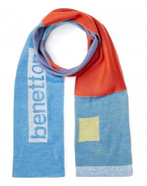 Шарф Benetton. Цвет: голубой