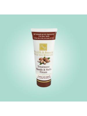 Крем для рук и ногтей Health & Beauty с маслом Аргана, 180мл. Цвет: белый