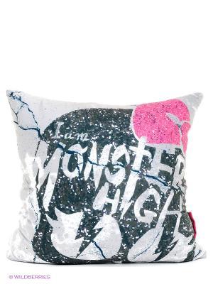 Подушка  Monster High MAXITOYS. Цвет: серый