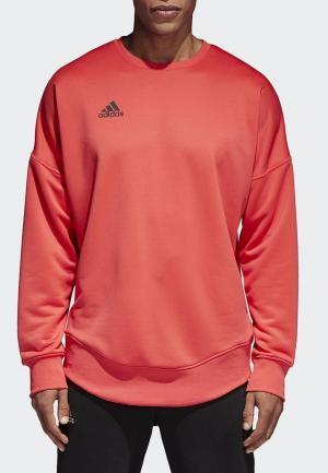 Свитшот adidas. Цвет: коралловый