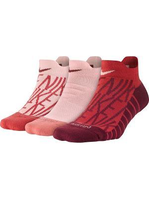Носки W NK PERF CUSH LOW 3PR-GFX Nike. Цвет: розовый, красный