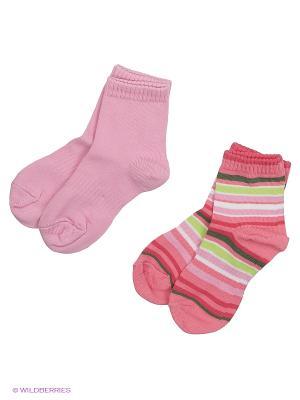 Носки, 2 пары Reima. Цвет: голубой, розовый
