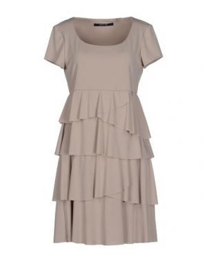 Короткое платье NADINE. Цвет: бежевый