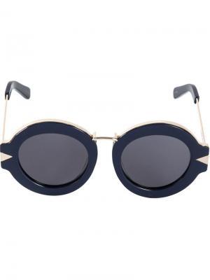 Солнцезащитные очки Maze Karen Walker Eyewear. Цвет: синий