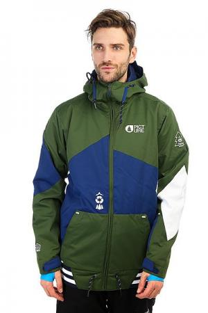 Куртка утепленная  College Khaki Picture Organic. Цвет: зеленый,синий,белый
