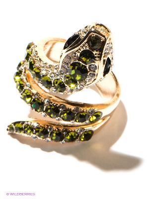 Кольцо Selena. Цвет: золотистый, зеленый