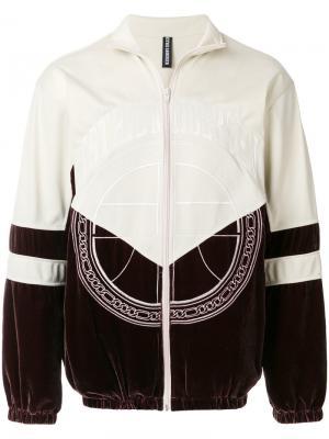 Спортивная куртка с вышивкой логотипа Astrid Andersen. Цвет: телесный