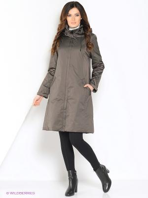 Пальто Maritta. Цвет: хаки