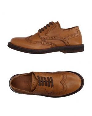 Обувь на шнурках UIT. Цвет: желто-коричневый