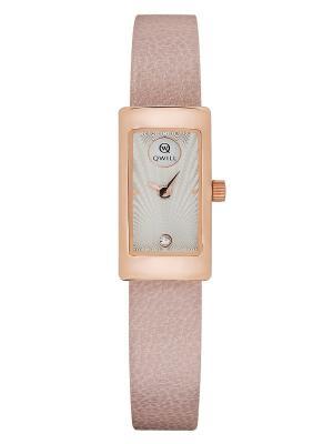 Часы ювелирные коллекция Q-City, QWILL, Часовой завод Ника QWILL. Цвет: серебристый