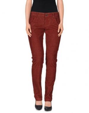 Повседневные брюки MANILA GRACE. Цвет: красно-коричневый