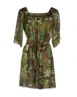 Короткое платье MANUEL LUCIANO. Цвет: зеленый