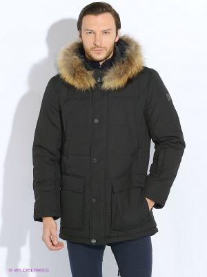 Пальто Finn Flare. Цвет: черный