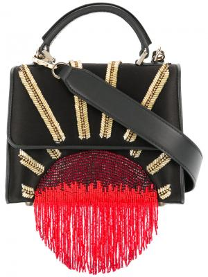 Декорированная сумка Alex Les Petits Joueurs. Цвет: чёрный