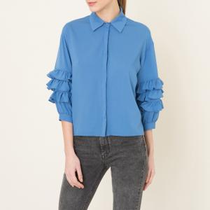 Рубашка с воланами SISTER JANE. Цвет: синий