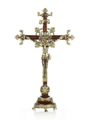Крест на подставке Holy Land Collections. Цвет: коричневый