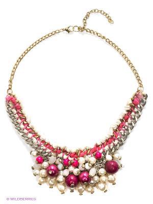 Ожерелье ГАНГ. Цвет: розовый