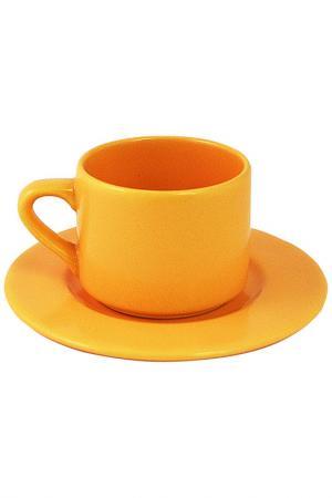 Чашка с блюдцем Sand Waechtersbacher. Цвет: бежевый