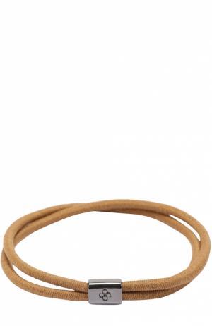 Набор резинок для волос Colette Malouf. Цвет: светло-коричневый