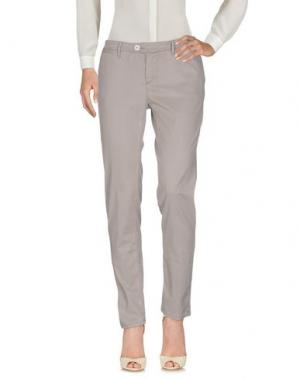 Повседневные брюки OAKS. Цвет: серый