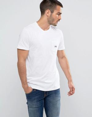 Penfield Белая футболка классического кроя с логотипом на кармане. Цвет: белый