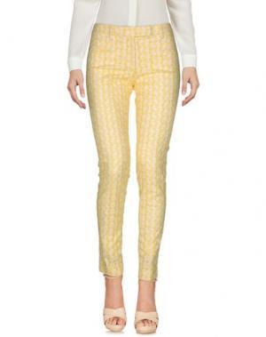 Повседневные брюки TRUE ROYAL. Цвет: желтый
