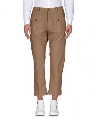 Повседневные брюки WOOSTER + LARDINI. Цвет: хаки