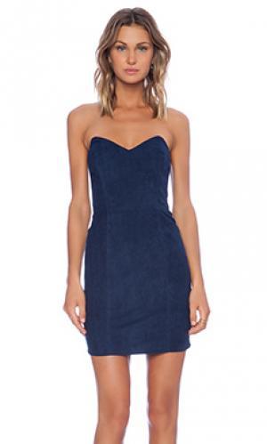 Платье без бретель ridge Myne. Цвет: синий