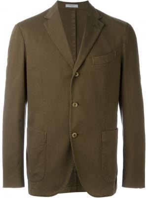 Однобортный спортивный пиджак Boglioli. Цвет: коричневый