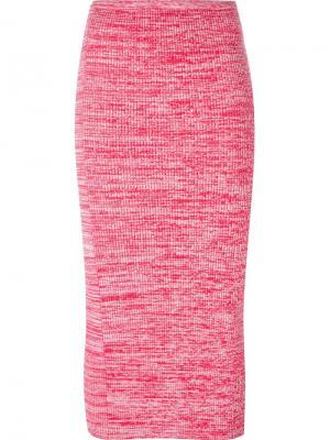 Вязаная юбка Nº21. Цвет: розовый и фиолетовый