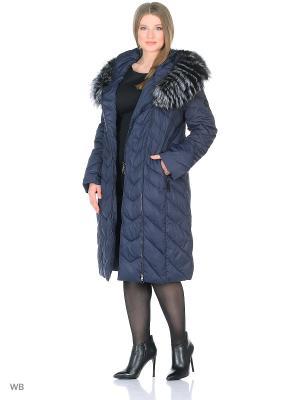 Пальто MOHNASS. Цвет: синий