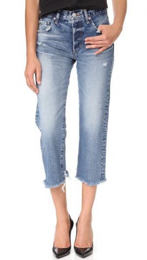 Укороченные прямые джинсы MV Madison MOUSSY. Цвет: голубой