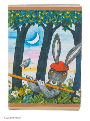 Обложка для автодокументов Музыка леса Mitya Veselkov. Цвет: голубой, бежевый, зеленый, серый
