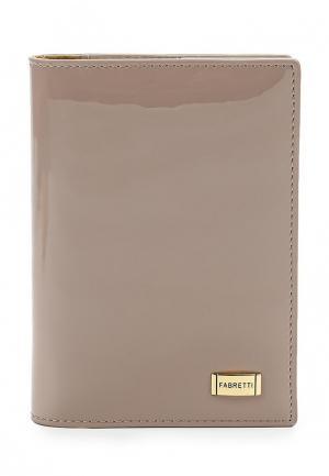 Обложка для паспорта Fabretti. Цвет: бежевый