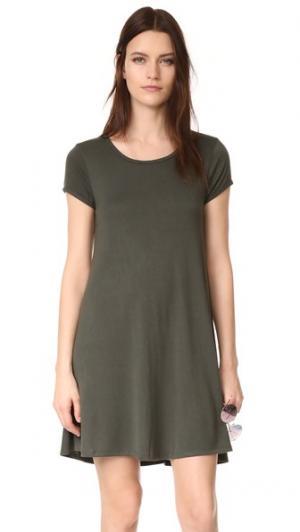 Воздушное платье из джерси Z Supply. Цвет: смола