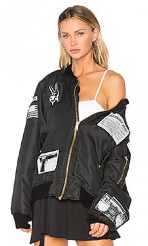 Куртка бомбер x jay z bkny Madeworn. Цвет: черный