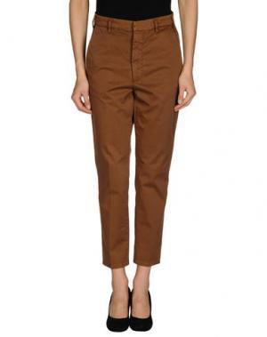 Повседневные брюки (+) PEOPLE. Цвет: коричневый
