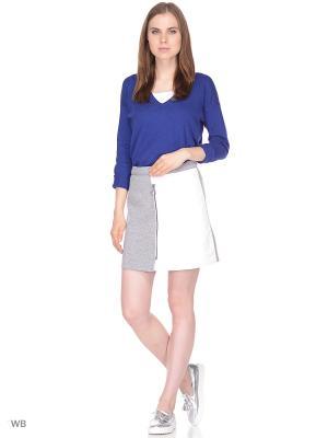 Пуловер United Colors of Benetton. Цвет: синий, белый